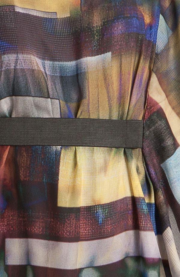 Alternate Image 3  - Aidan by Aidan Mattox Print Chiffon Blouson Dress
