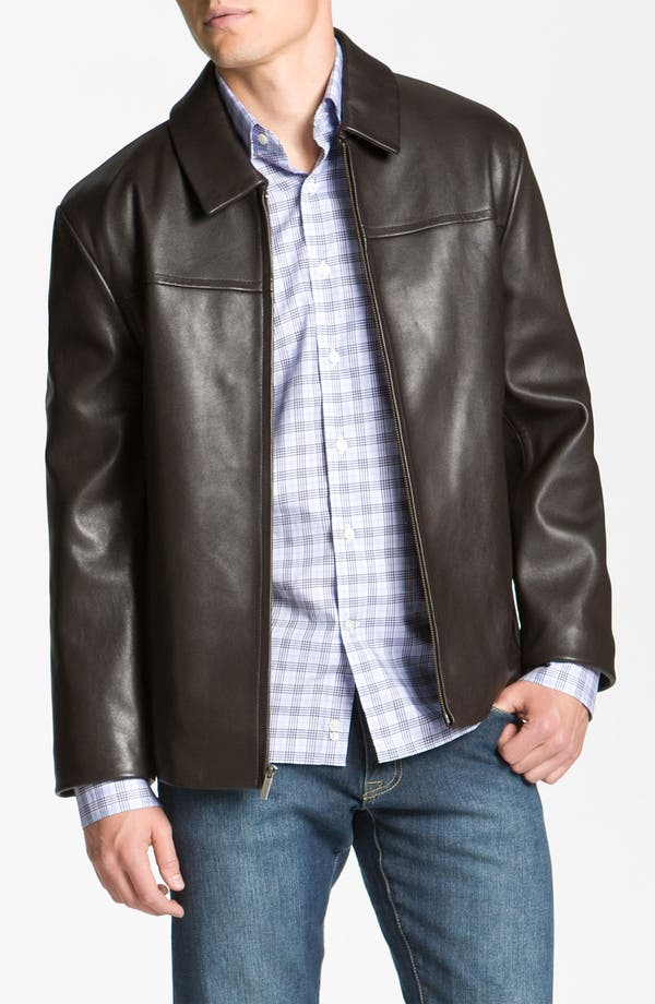 Alternate Image 1 Selected - Cole Haan Leather Jacket (Online Exclusive)