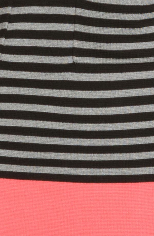 Alternate Image 3  - Eliza J Stripe Contrast Trim Shift Dress