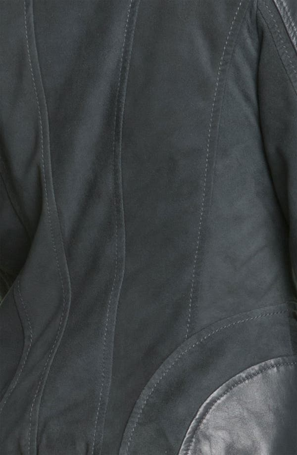 Alternate Image 3  - Bernardo Suede Marble Leather Jacket