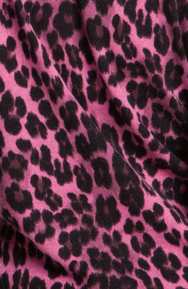 Alternate Image 3  - Juicy Couture Leopard Print V-Neck Sweater