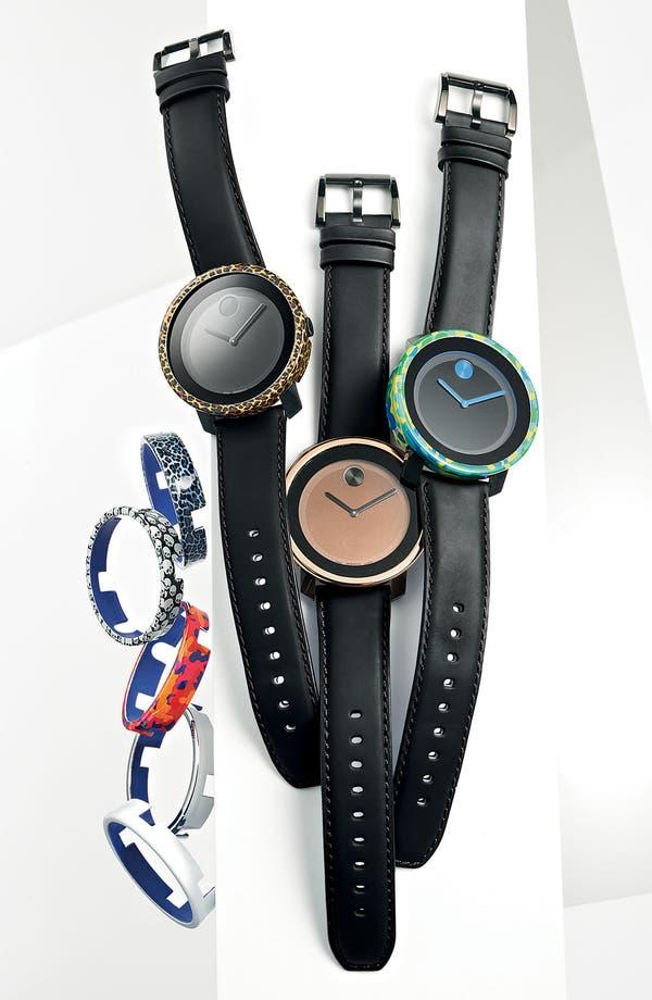 Alternate Image 2  - Movado 'Bold' Leather Strap Watch