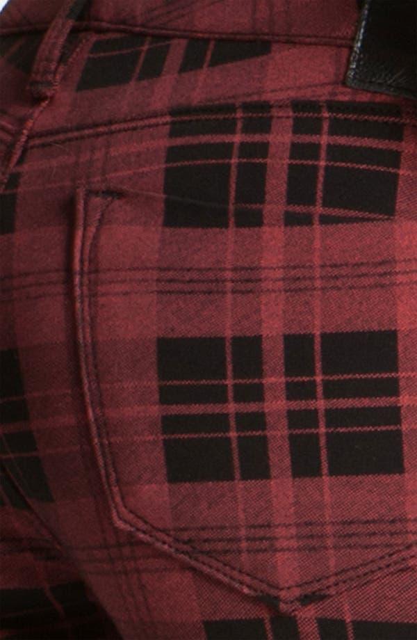 Alternate Image 3  - Dylan George Plaid Skinny Pants (Red/Black Plaid)
