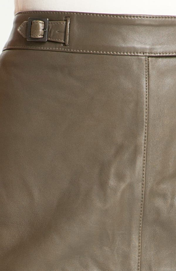 Alternate Image 3  - Classiques Entier® 'Brenna' Leather Pencil Skirt