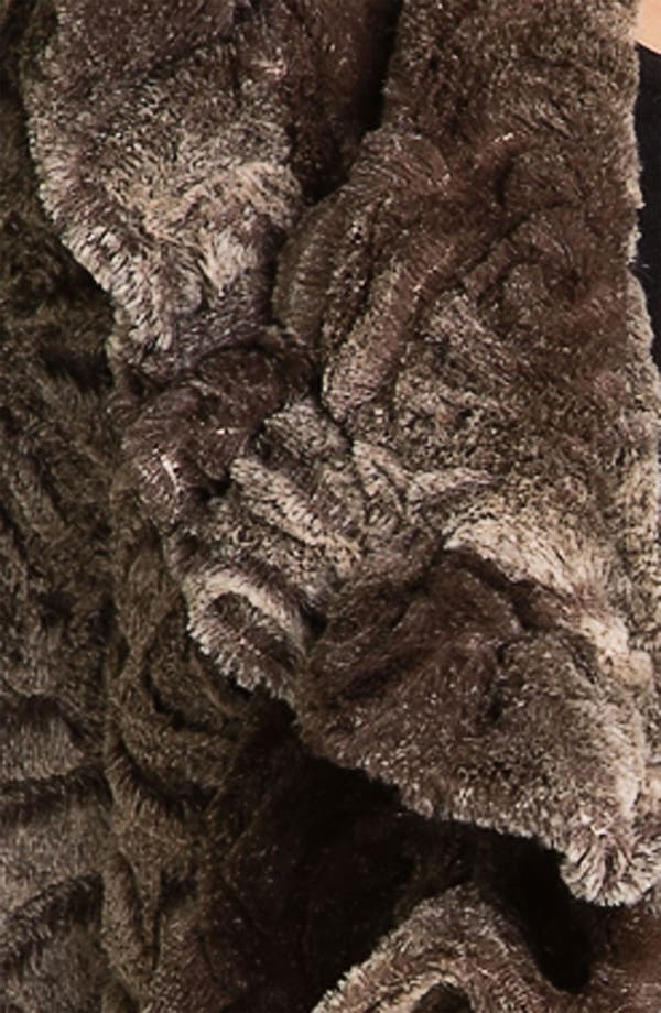Alternate Image 3  - Damselle Faux Fur Ruffle Coat