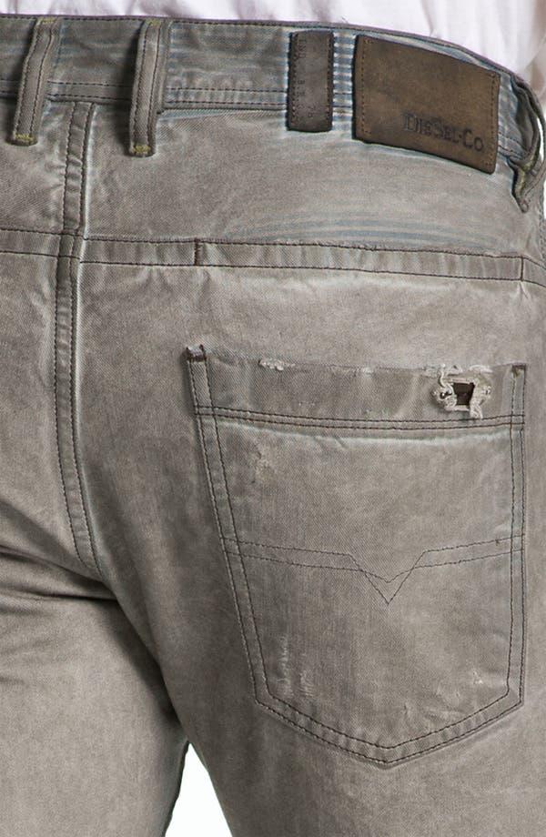 Alternate Image 4  - DIESEL® 'Braddom' Slim Tapered Leg Jeans (Chocolate Grey)