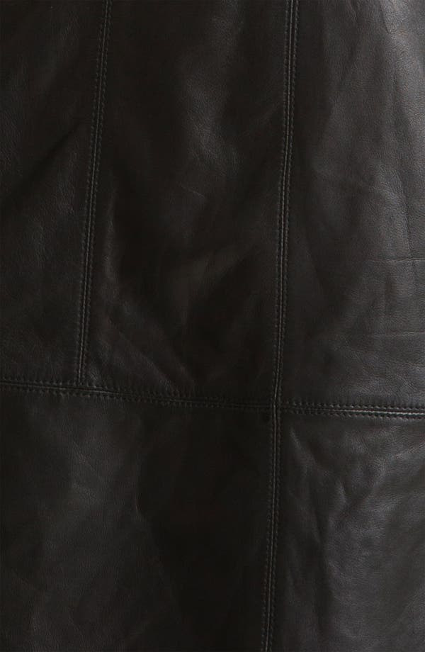 Alternate Image 3  - Halogen® Leather Front Sheath Dress