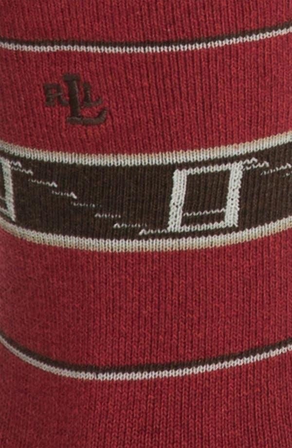 Alternate Image 2  - Ralph Lauren Blanket Stripe Socks