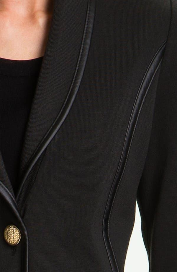 Alternate Image 3  - Exclusively Misook Faux Leather Trim Blazer