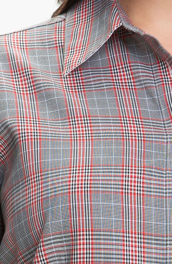 Alternate Image 3  - Foxcroft Glen Plaid Wrinkle Free Shaped Shirt (Plus)