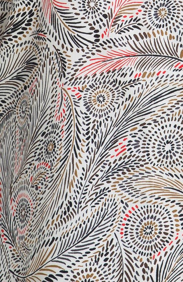 Alternate Image 3  - Foxcroft Feather Print Wrinkle Free Shaped Shirt (Plus)