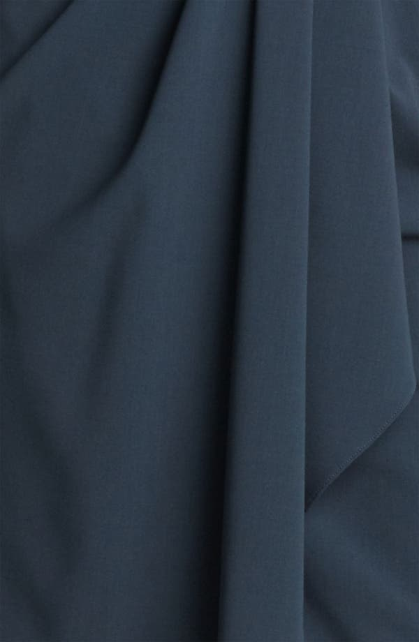 Alternate Image 3  - Armani Collezioni Drape Front Crepe Dress