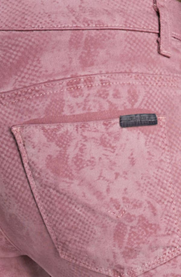 Alternate Image 3  - Hudson Jeans 'Nico' Mid Rise Skinny Stretch Jeans (Blush Lace)