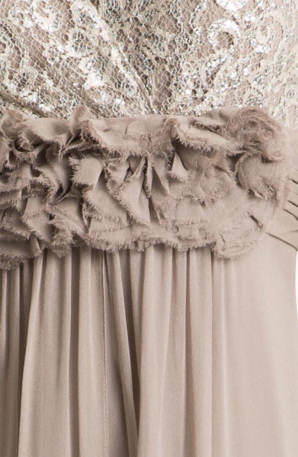 Alternate Image 3  - Teri Jon Lace & Chiffon A-Line Gown
