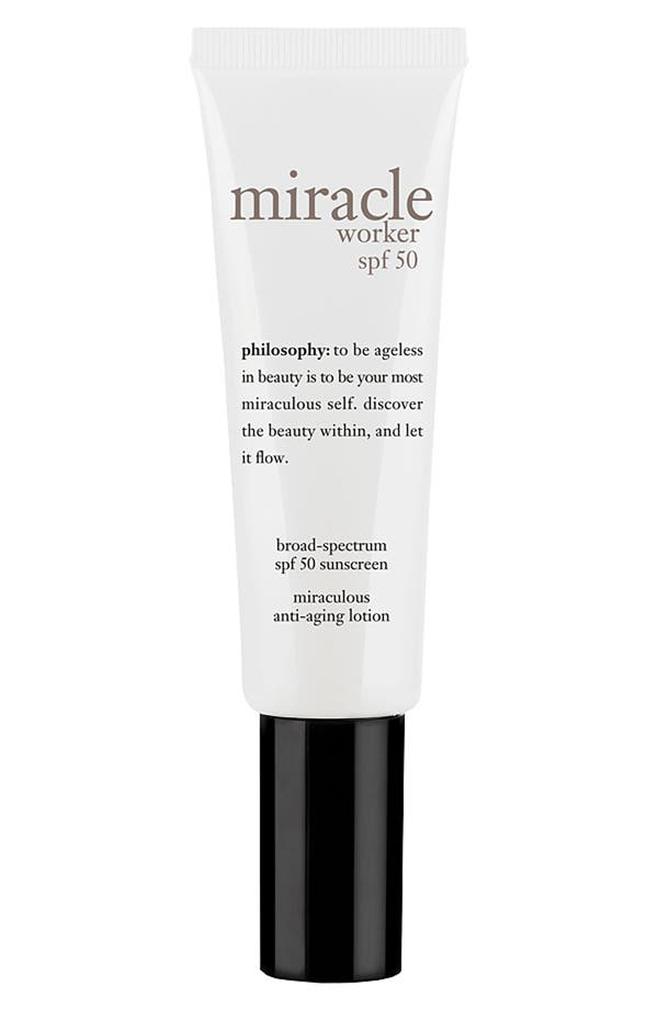 Main Image - philosophy 'miracle worker' miraculous anti-aging lotion broad spectrum spf 50+