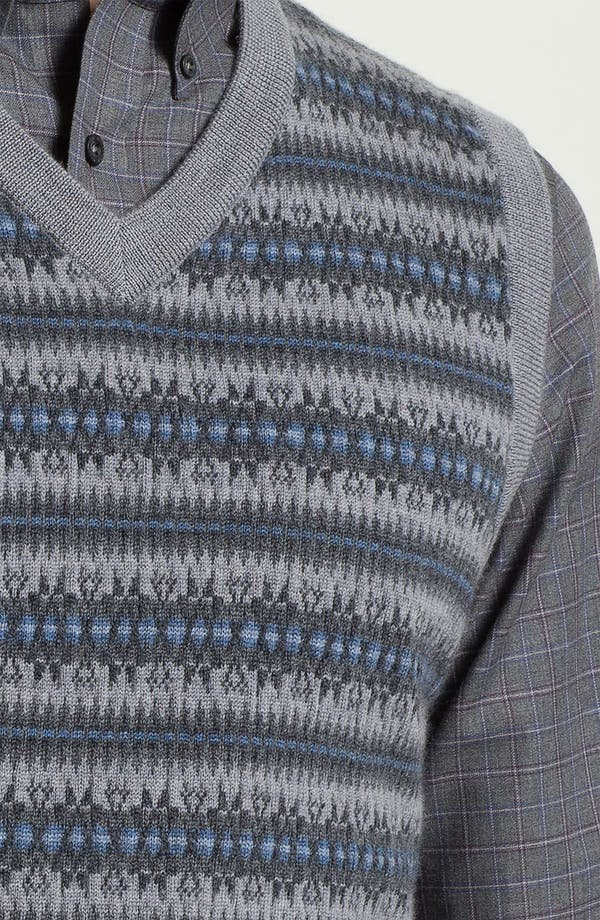 Alternate Image 3  - Nordstrom Fair Isle Merino Wool Sweater Vest