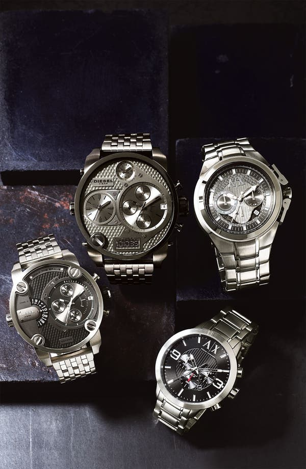 Alternate Image 4  - DIESEL® 'Mr. Daddy' Bracelet Watch, 58mm