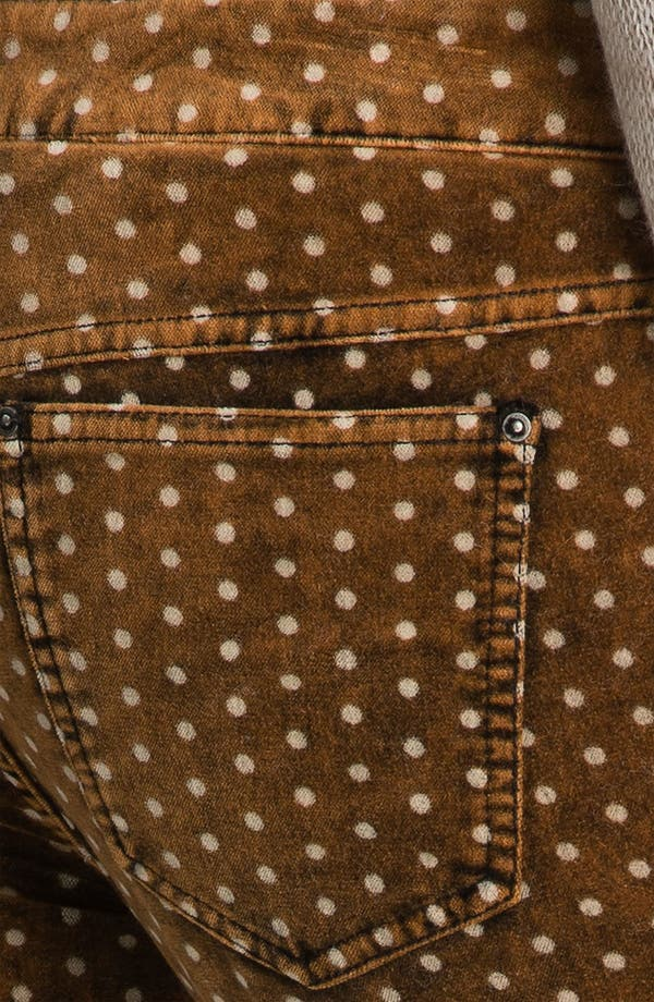 Alternate Image 3  - Free People Polka Dot Skinny Velvet Pants