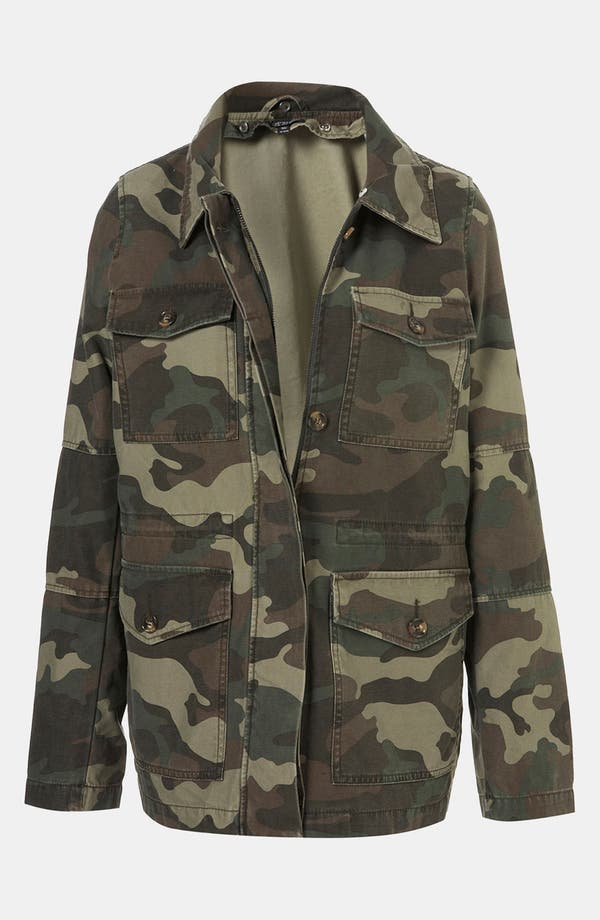 Alternate Image 4  - Topshop Faux Fur Lined Camo Utility Jacket