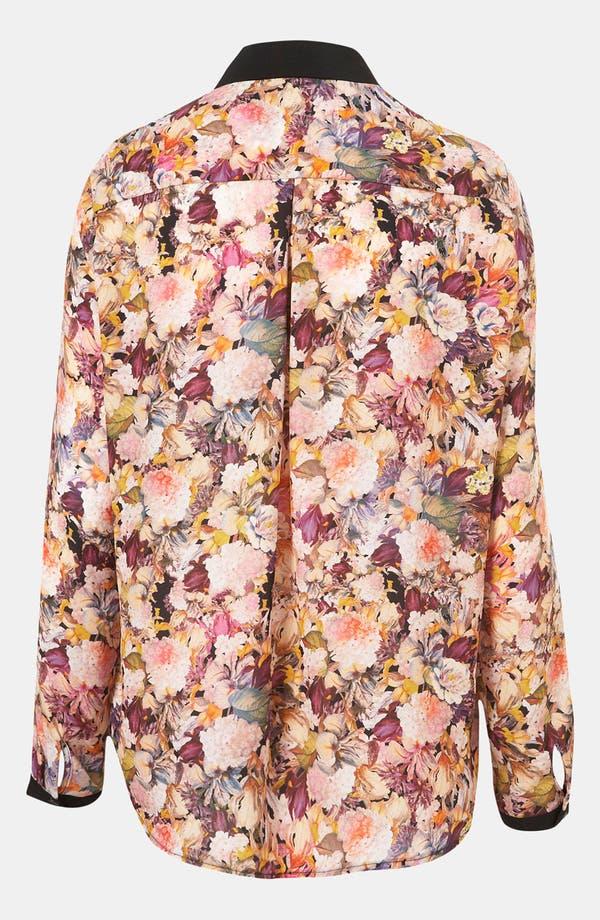 Alternate Image 2  - Topshop 'Iris Bloom' Contrast Trim Shirt