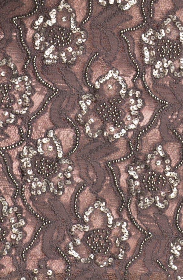 Alternate Image 3  - Aidan Mattox Embellished V-Back Lace Sheath Dress (Plus)