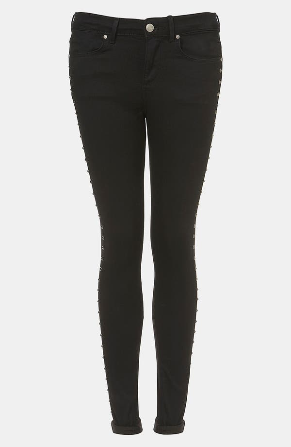 Main Image - Topshop Moto 'Leigh' Studded Skinny Jeans