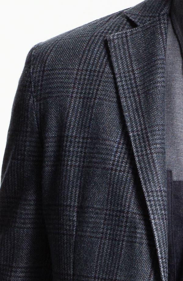 Alternate Image 3  - Lubiam Trim Fit Plaid Wool Blend Sportcoat