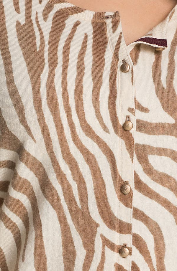 Alternate Image 3  - Lucky Brand Zebra Print Cardigan (Plus)