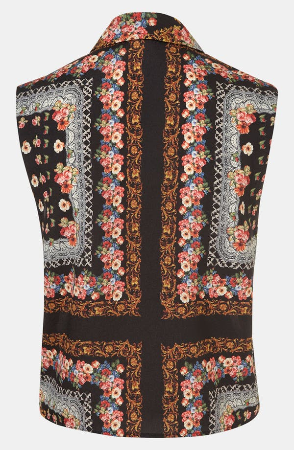 Alternate Image 2  - Topshop Scarf Print Sleeveless Shirt
