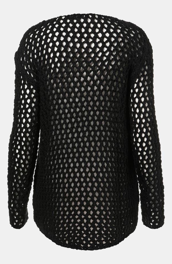 Alternate Image 2  - Topshop Net Knit Sweater