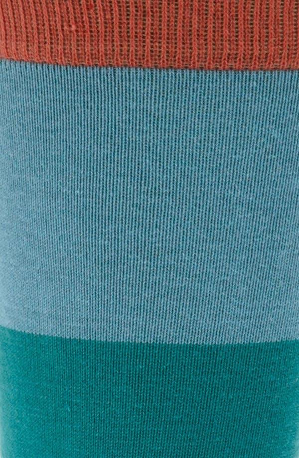 Alternate Image 2  - hook + ALBERT Tiered Stripe Socks