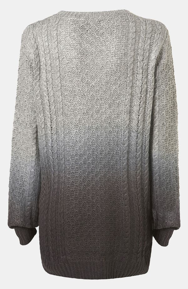 Alternate Image 3  - Topshop Dip Dye Cable Knit Maternity Sweater
