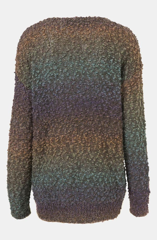 Alternate Image 2  - Topshop Metallic Ombré Sweater