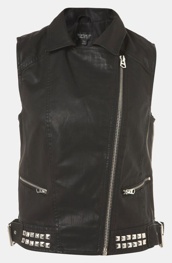 Alternate Image 3  - Topshop 'Dallas' Faux Leather Vest