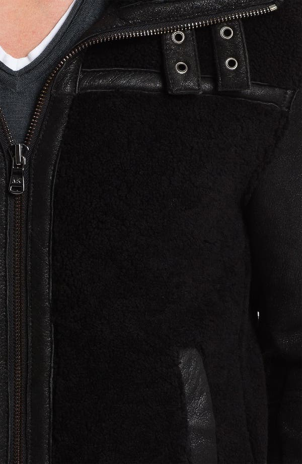 Alternate Image 3  - Michael Kors Shearling Racer Jacket