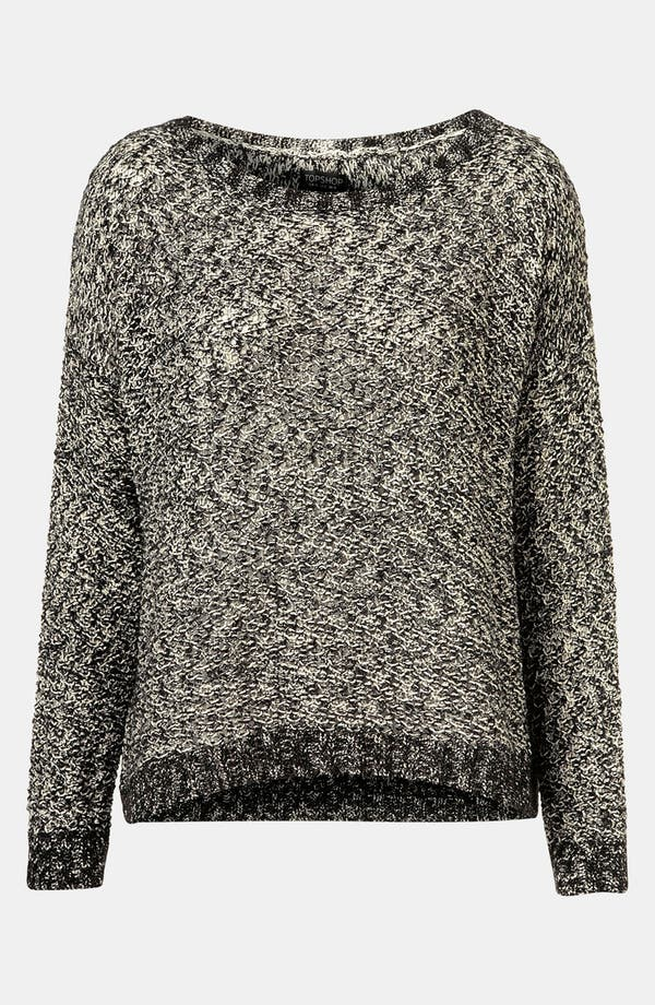 Alternate Image 1 Selected - Topshop Boxy Tweed Knit Sweater