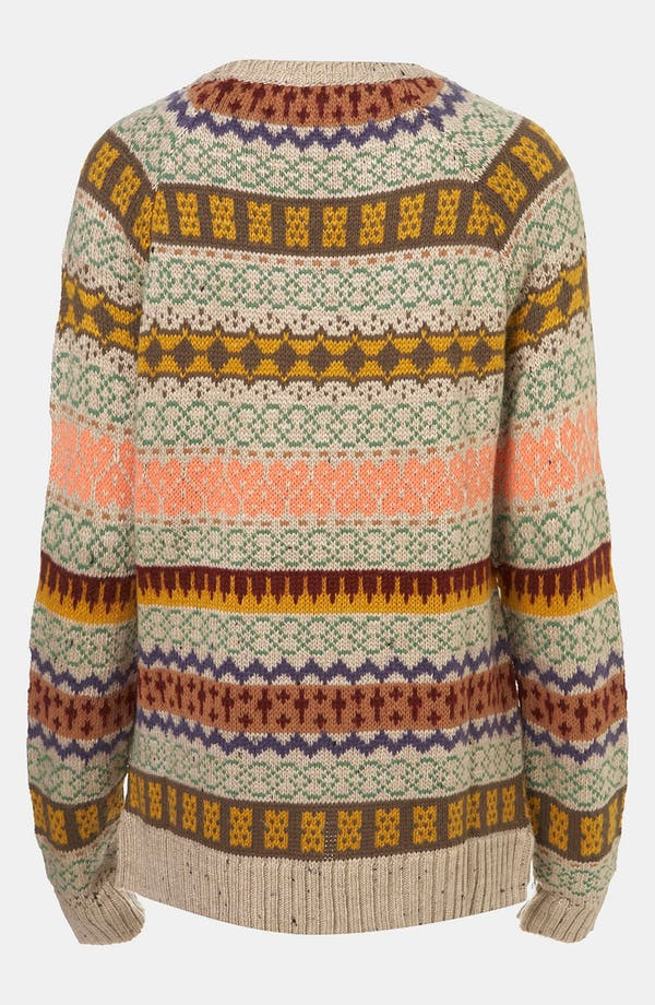 Alternate Image 2  - Topshop Nordic Knit Sweater