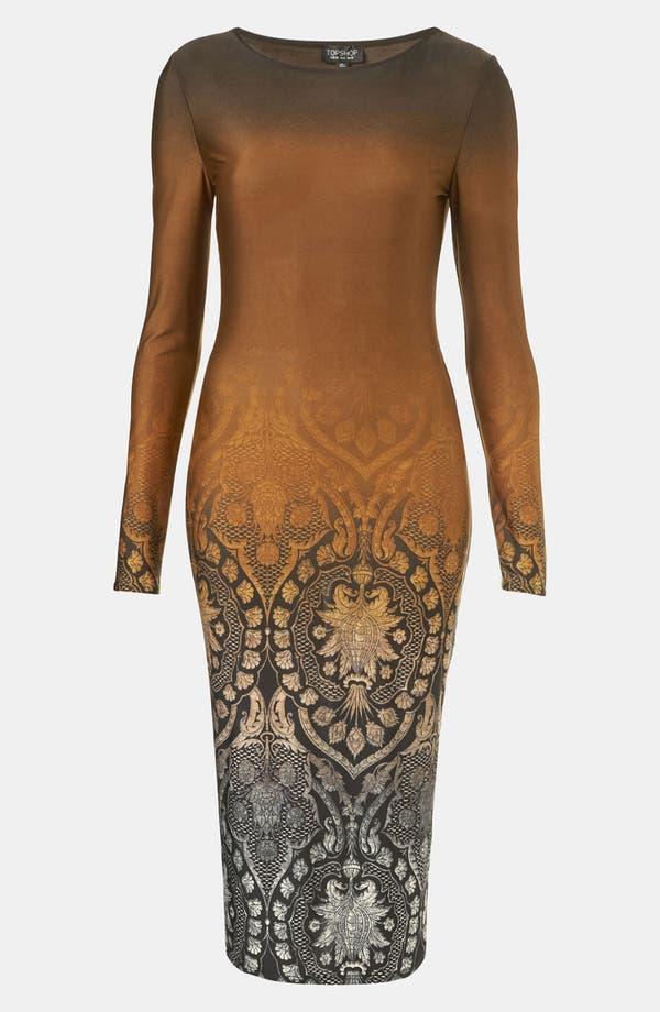 Main Image - Topshop Ombré Print Body-Con Dress