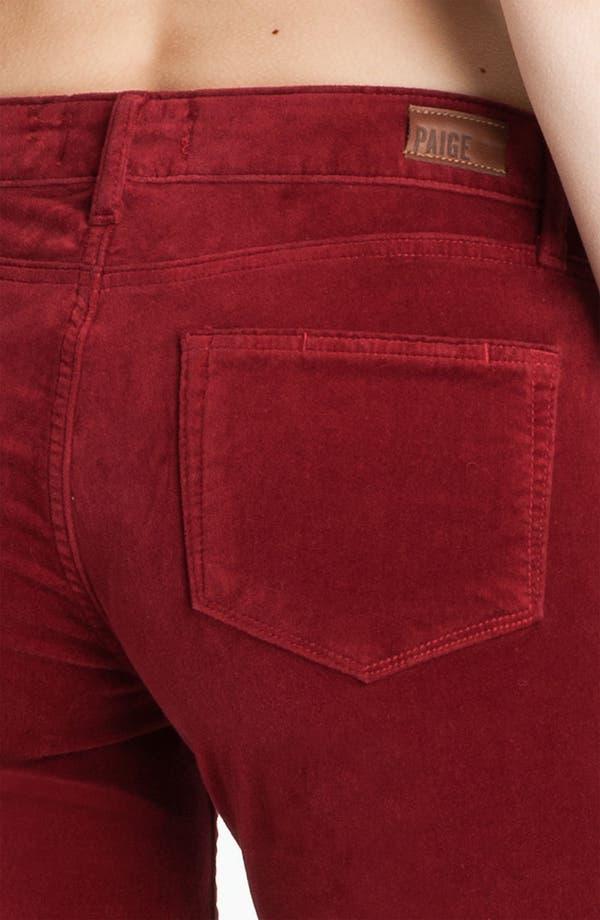 Alternate Image 3  - Paige Denim 'Verdugo' Stretch Velvet Skinny Pants (Lava)
