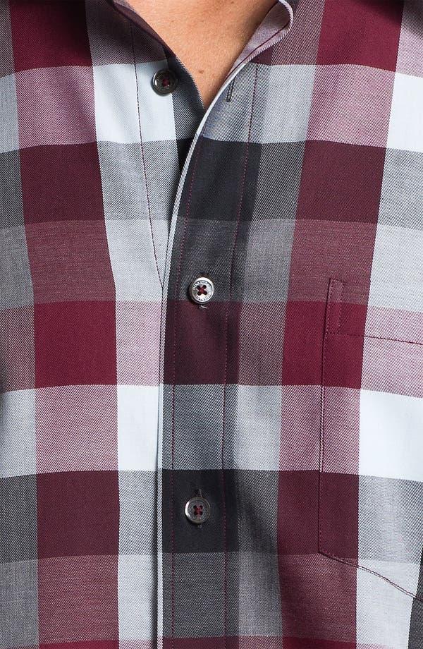 Alternate Image 4  - Bugatchi Uomo Regular Fit Sport Shirt