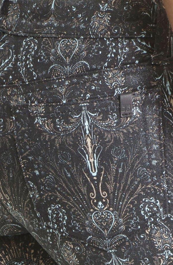 Alternate Image 3  - Joe's Skinny Coated Jeans (Black Baroque)