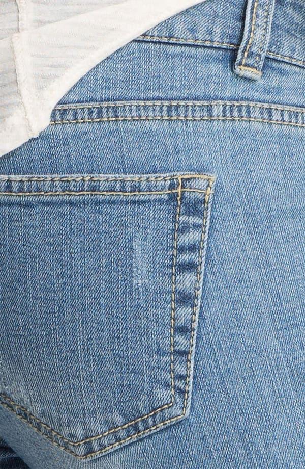 Alternate Image 3  - Fire Destroyed Skinny Jeans (Juniors)