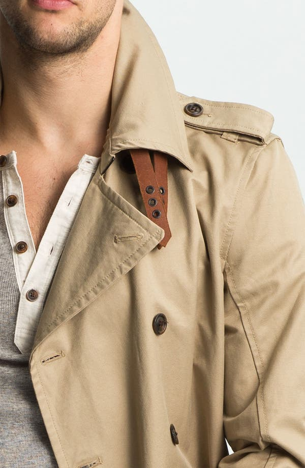 Alternate Image 3  - DIESEL® 'Javelins' Double Breasted Trench Coat