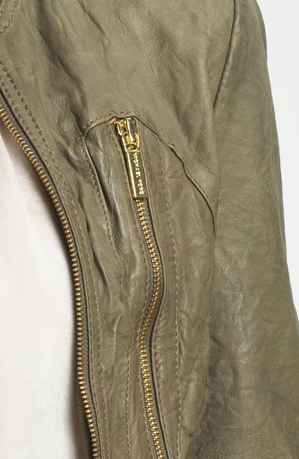 Alternate Image 3  - MICHAEL Michael Kors Soft Leather Jacket (Petite)