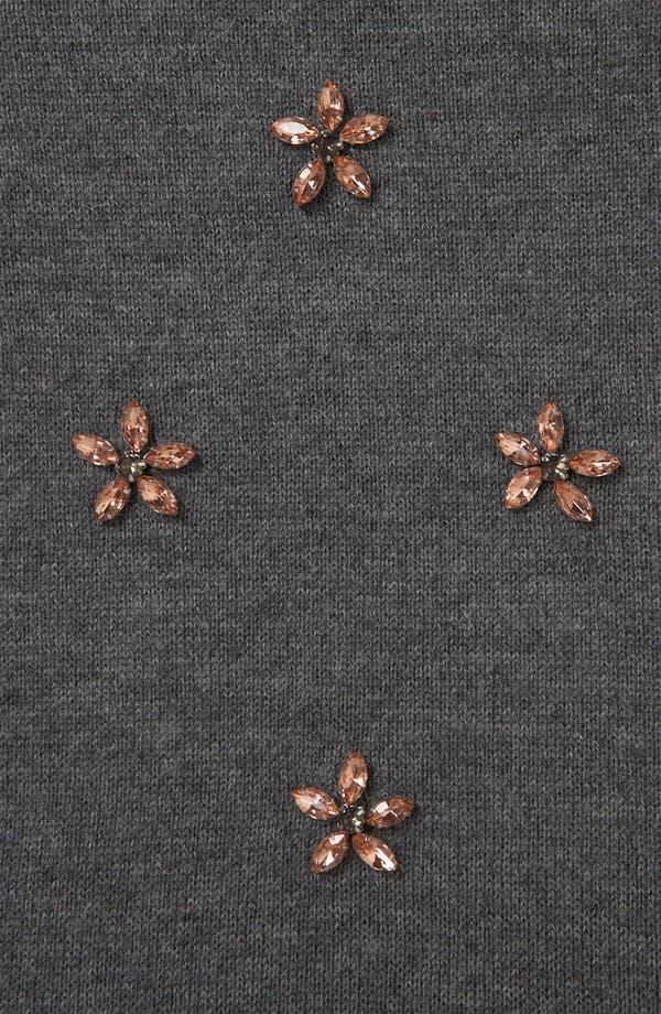 Alternate Image 3  - Topshop Embellished Flower Sweater