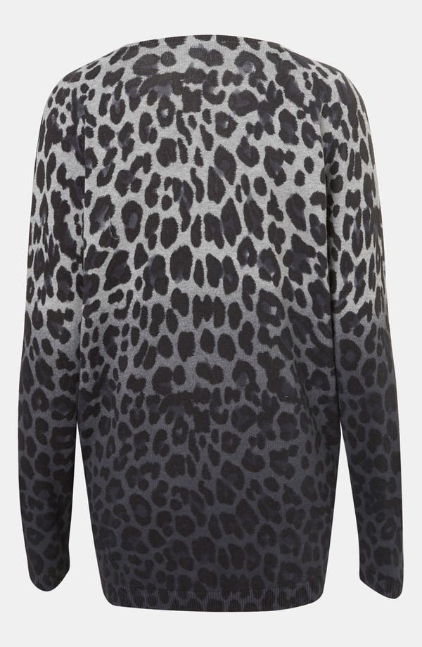 Alternate Image 2  - Topshop Leopard Print Dip Dyed Sweater