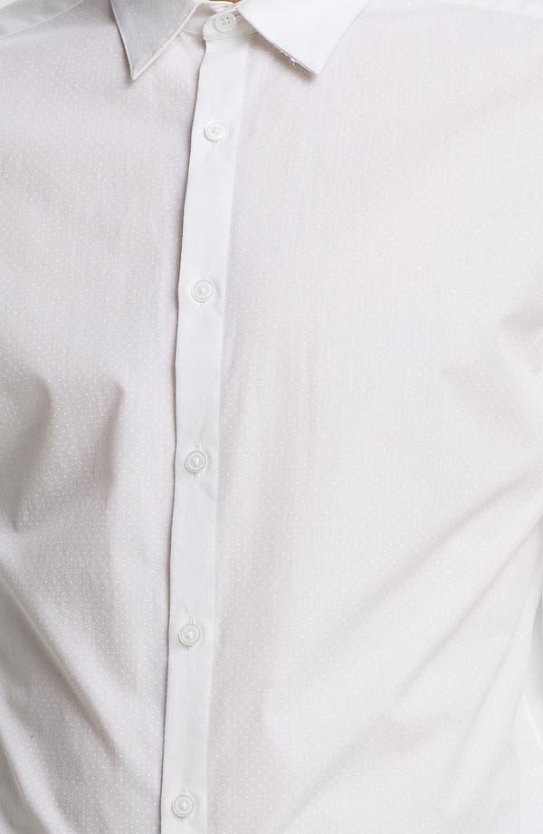 Alternate Image 3  - Topman Slim Fit Tonal Pin Dot Dress Shirt