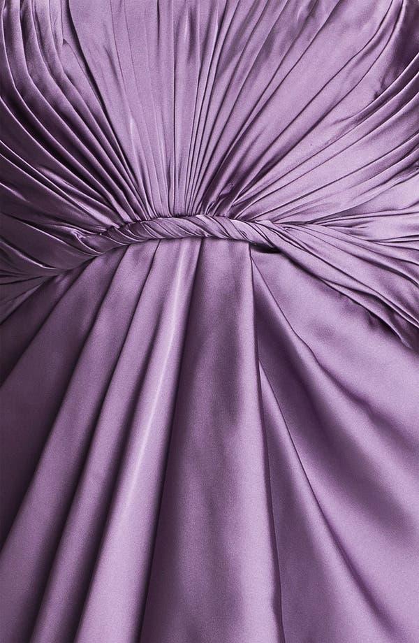 Alternate Image 3  - ML Monique Lhuillier Bridesmaids Strapless Drape Detail Charmeuse Dress (Nordstrom Exclusive)