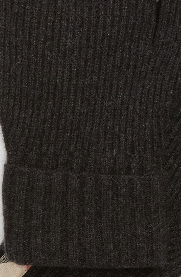 Alternate Image 3  - Burberry Touch Screen Cashmere Gloves