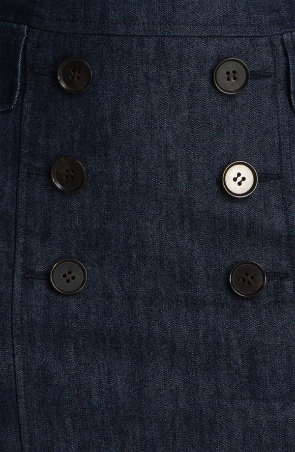Alternate Image 3  - Halogen® Double Button Front Denim Skirt